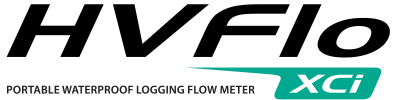 Portable waterproof logging flow meter for wastewater, stormwater, and industrial discharge